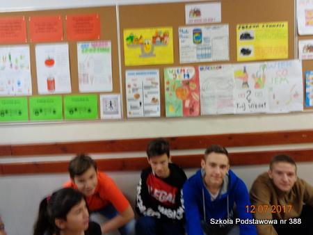 Wystawa prac uczniów klas siódmych