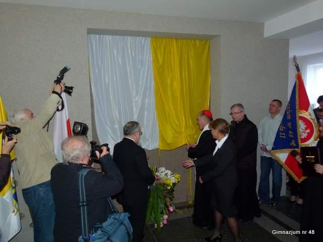 Uroczystość odsłonięcia tablicy pamiątkowej