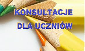 Konsultacje dla uczniów klas V – VIII