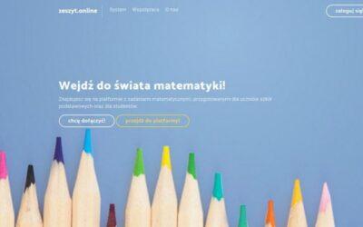 zeszyt.online jako forma pomocy nauki matematyki dla uczniów klas 6 – 8 naszej szkoły.